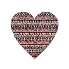 Aztec Pattern Patterns Heart Magnet by BangZart