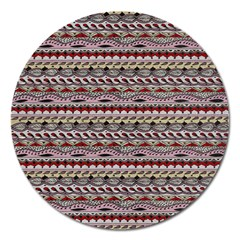 Aztec Pattern Patterns Magnet 5  (round) by BangZart