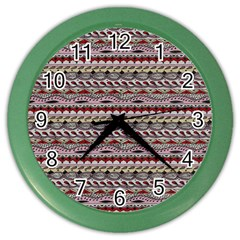 Aztec Pattern Patterns Color Wall Clocks by BangZart