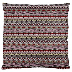 Aztec Pattern Patterns Large Flano Cushion Case (two Sides) by BangZart