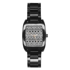 Aztec Design  Pattern Stainless Steel Barrel Watch by BangZart