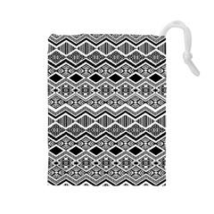 Aztec Design  Pattern Drawstring Pouches (large)  by BangZart