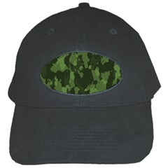 Camouflage Green Army Texture Black Cap by BangZart