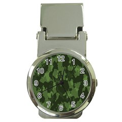 Camouflage Green Army Texture Money Clip Watches by BangZart