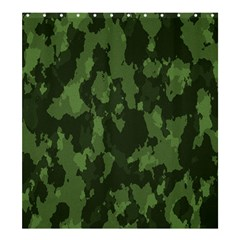 Camouflage Green Army Texture Shower Curtain 66  X 72  (large)  by BangZart