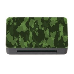 Camouflage Green Army Texture Memory Card Reader With Cf by BangZart