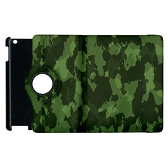 Camouflage Green Army Texture Apple Ipad 2 Flip 360 Case by BangZart