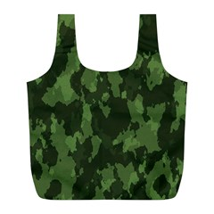 Camouflage Green Army Texture Full Print Recycle Bags (l)  by BangZart