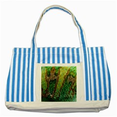 Chameleon Skin Texture Striped Blue Tote Bag by BangZart