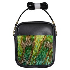 Chameleon Skin Texture Girls Sling Bags by BangZart
