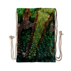 Chameleon Skin Texture Drawstring Bag (small) by BangZart