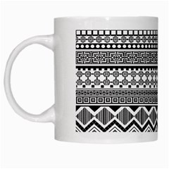 Aztec Pattern Design White Mugs by BangZart