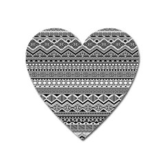 Aztec Pattern Design Heart Magnet by BangZart