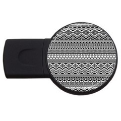 Aztec Pattern Design Usb Flash Drive Round (2 Gb) by BangZart