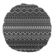 Aztec Pattern Design Large 18  Premium Flano Round Cushions by BangZart