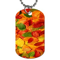 Leaves Texture Dog Tag (two Sides) by BangZart