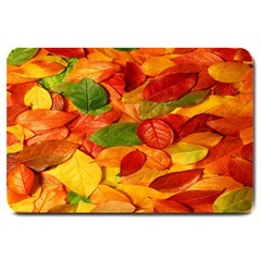 Leaves Texture Large Doormat  by BangZart
