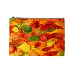 Leaves Texture Cosmetic Bag (large)  by BangZart