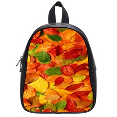Leaves Texture School Bags (small)  by BangZart