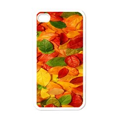 Leaves Texture Apple Iphone 4 Case (white) by BangZart