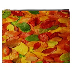 Leaves Texture Cosmetic Bag (xxxl)  by BangZart