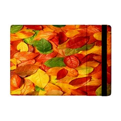 Leaves Texture Ipad Mini 2 Flip Cases by BangZart