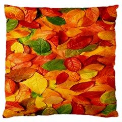 Leaves Texture Large Flano Cushion Case (one Side) by BangZart