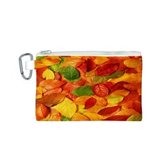 Leaves Texture Canvas Cosmetic Bag (s) by BangZart