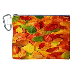 Leaves Texture Canvas Cosmetic Bag (xxl) by BangZart