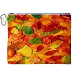 Leaves Texture Canvas Cosmetic Bag (xxxl) by BangZart