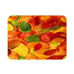 Leaves Texture Double Sided Flano Blanket (mini)  by BangZart
