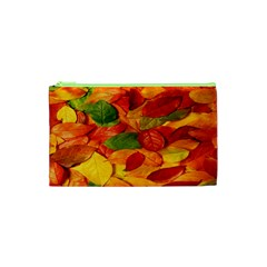 Leaves Texture Cosmetic Bag (xs) by BangZart