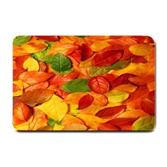Leaves Texture Small Doormat  by BangZart
