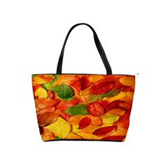 Leaves Texture Shoulder Handbags by BangZart