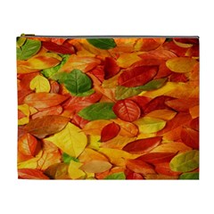 Leaves Texture Cosmetic Bag (xl) by BangZart