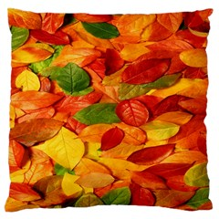 Leaves Texture Large Cushion Case (two Sides) by BangZart