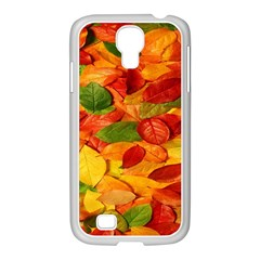 Leaves Texture Samsung Galaxy S4 I9500/ I9505 Case (white) by BangZart
