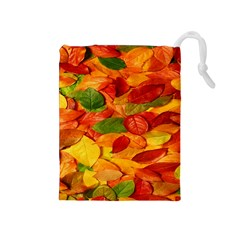 Leaves Texture Drawstring Pouches (medium)  by BangZart