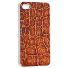 Crocodile Skin Texture Apple Iphone 4/4s Seamless Case (white) by BangZart