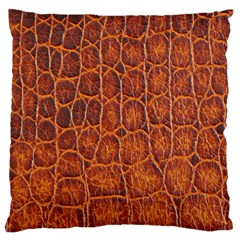 Crocodile Skin Texture Standard Flano Cushion Case (one Side) by BangZart