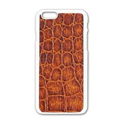 Crocodile Skin Texture Apple Iphone 6/6s White Enamel Case by BangZart