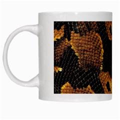 Gold Snake Skin White Mugs by BangZart
