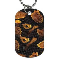 Gold Snake Skin Dog Tag (two Sides) by BangZart