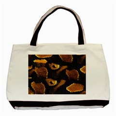 Gold Snake Skin Basic Tote Bag by BangZart