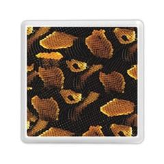 Gold Snake Skin Memory Card Reader (square)  by BangZart