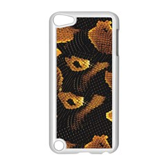 Gold Snake Skin Apple Ipod Touch 5 Case (white) by BangZart