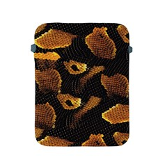 Gold Snake Skin Apple Ipad 2/3/4 Protective Soft Cases by BangZart