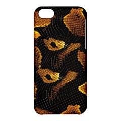 Gold Snake Skin Apple Iphone 5c Hardshell Case by BangZart