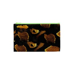 Gold Snake Skin Cosmetic Bag (xs) by BangZart