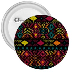 Bohemian Patterns Tribal 3  Buttons by BangZart